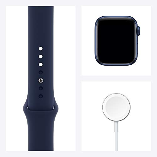 New Apple Watch Series 6 (GPS, 40mm) - Blue Aluminum Case with Deep Navy Sport Band