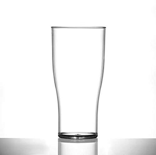 BB Plastics Drinkstuff - Set di 6 Bicchieri in policarbonato infrangibile a Forma di Tulipano