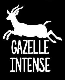 LLI Gazelle Intense | Vinyl-Aufkleber | Autos, Lastwagen, Wände, Laptops | 14 x 12 cm | LLI1355