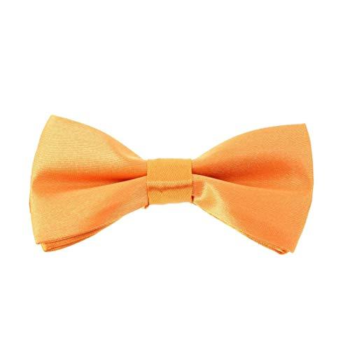 Cravate Avenue Clj Charles Le Jeune. Noeud papillon enfant. Ajustable, Microfibre. Orange, Uni.