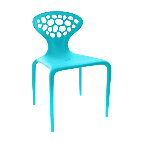 Moroso Supernatural Stuhl mit Löchern, türkis Pant. 7467 matt BxHxT 49x81x50cm