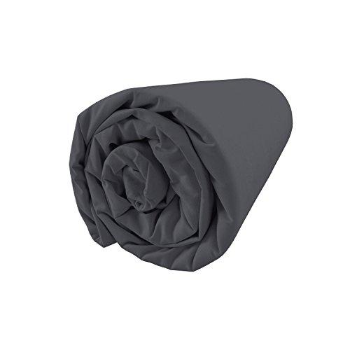 BLANC CERISE Drap Housse en Percale, Bonnet 30 160x200 cm