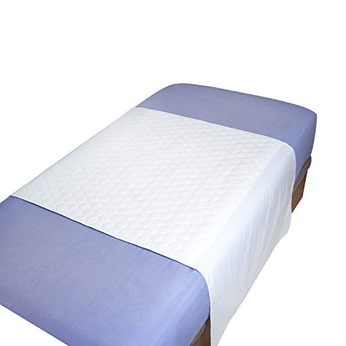 MIRTUX Empapador Protector de Cama Lavable, Impermeable y Muy Absorbente con 4 Capas. Medidas 85 x 90 cm y alas a Ambos Lados de 55cm. Fabricado Super Resistentes.