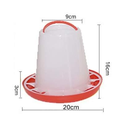 WSXD Pollo RSS Barril de Bebida Aves Bird Dieta Herramienta de codorniz Beber Jaula Pigeon alimentador de plástico (Color : Red)