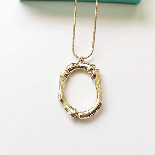 XLLJA Gargantilla Corta,Collar con Letras, Cadena de clavícula con Colgante inglés Jewelry-Gold @ O