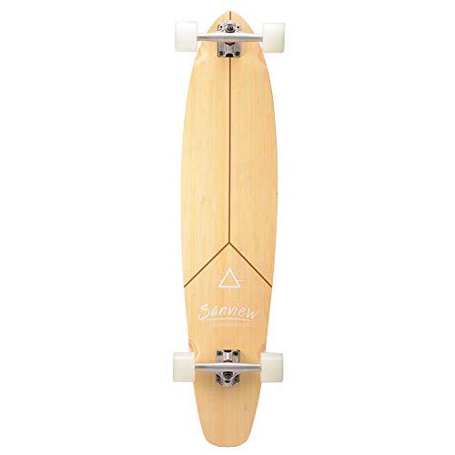 SANVIEW 42inch Complete Bamboo Longboard Skateboards Cruiser Y Shape
