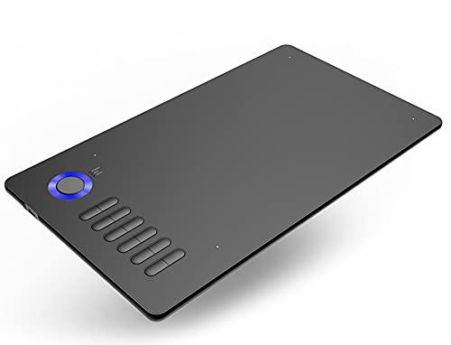 Xyfw Lápiz Gráfico, Tableta De Dibujo De 10X6 Pulgadas con Lápiz Óptico Pasivo Sin Batería 12 Teclas De Acceso Directo Área De Dibujo Ultra Grande