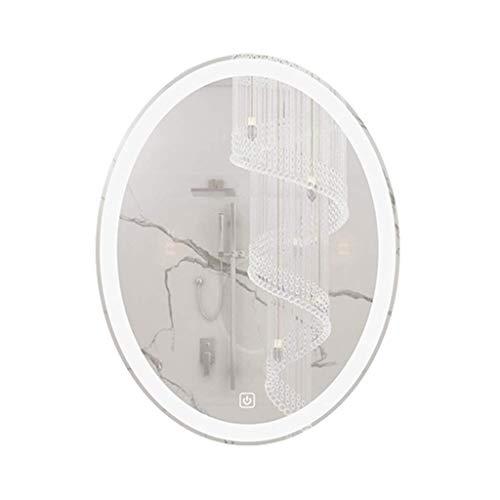Household Necessities/wandspiegel voor de badkamer, verlichte spiegel met verlichte spiegel, anti-condensspiegel 50*70CM Warm licht