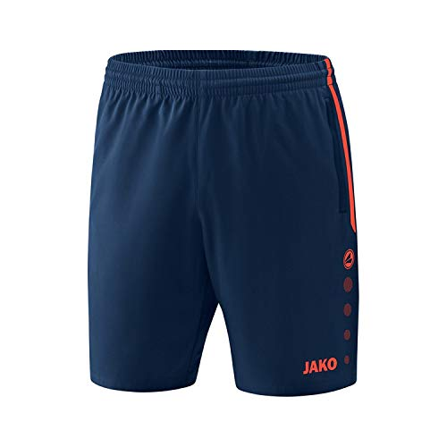 JAKO Herren Competition 2.0 Shorts, mehrfarbig (navy/flame), M