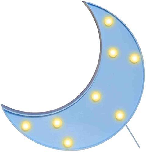 3D-Mondschild-Licht, LED-Kunststoff-Mondschild, beleuchtetes Festzelt, Wanddekoration für Weihnachten, Geburtstagsfeier, Kinderzimmer, Wohnzimmer, Hochzeits-Party-Dekoration