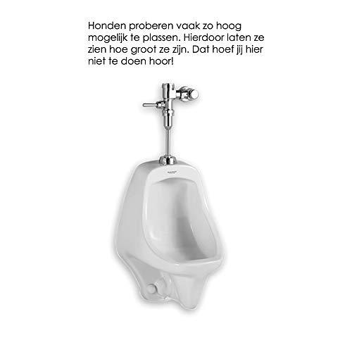 Toilet Sticker Hoogplasser - Zwart - 60 x 14 cm - Muursticker4Sale