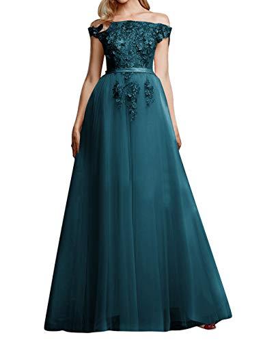 Vintage Brautkleid Abendkleider Lang A-Linie Tüll Ballkleider Hochzeitskleider Standesamt...