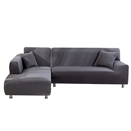 NIBESSER Sofabezug 3 Sitzer+4 Sitzer Sofaüberwürfe für L-Form Sofa elastische Stretch Sofabezug Sofa Überzug
