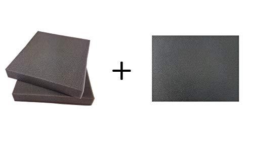 BiMordiscos Pack per fondine in kydex: Foglio di kydex Nero di 1,8 mm e 2 Fogli di Materiale per stampaggio (Gomma Eva)
