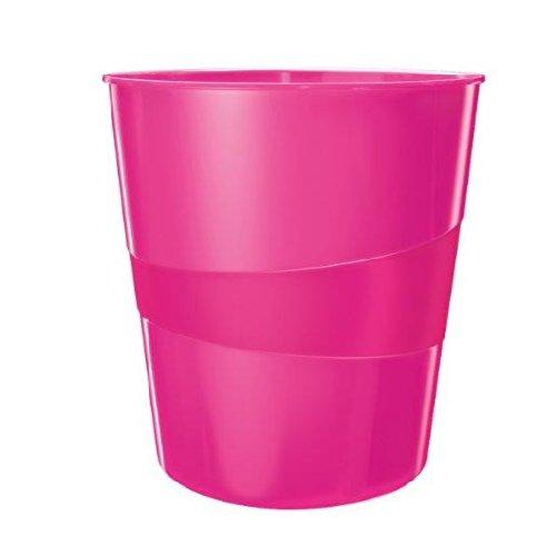 Leitz 6Papierkörbe WOW Kapazität 15L Polypropylen D29x h32,4cm rosa glänzend