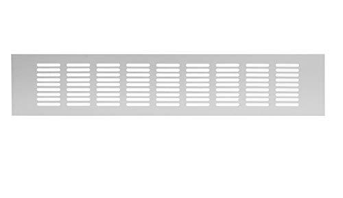 80x400mm Aluminium Lüftungsgitter Silber Stegblech Lüftung Alu-Gitter Gitter Möbelgitter Möbellüftung