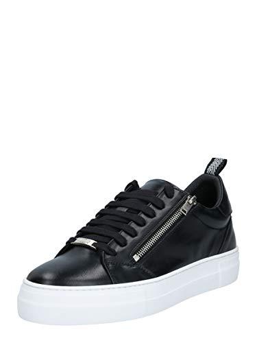 Antony Morato Sneaker Zipper IN Pelle, Oxford Plano Hombre, Negro, 42 EU