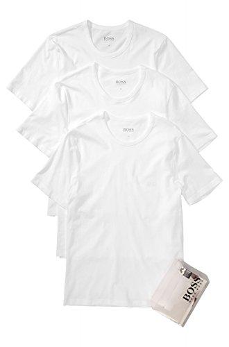 Hugo Boss BOSS Herren 3er Pack T-Shirt Shirt SS RN 3P BM 50236738, Farbe:Weiß;Größe:L