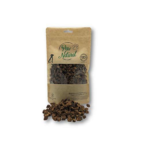 Paw Natural Premium Hundeleckerli aus 100% purem, frischem Fleisch, Gluten- & getreidefrei - 250g Ziege-Leckereien (Goat)