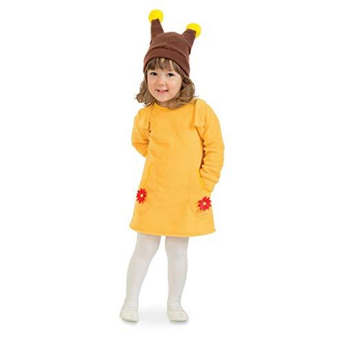 Dulce Vestido de Caracol para niña / Amarillo-marrón 99 - 104 cm, 3 - 4 años / Disfraz Infantil pequeño Caracol carnavales Infantiles y Fiestas temáticas