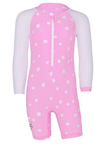 JUJA - UV-Schwimmanzug für Babys - Langärmlig - Stars - Rosa