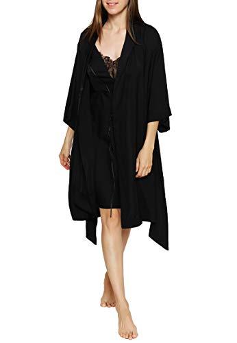 Triumph - Chemises - Morgenmantel - Black, Größe 40, Farbe Black
