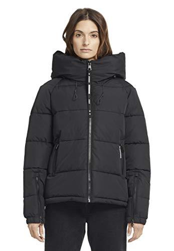 khujo Damen Jacke Alexia warme Steppjacke Winterjacke mit Kapuze und Reißverschluss