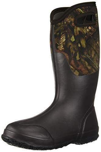BOGS Women's Classic Mid Waterproof Insulated Rubber Neoprene Snow Rain Boot, Mossy Oak Print, 10 US