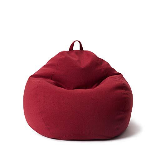 Lumaland Comfort Line Sitzsack L Indoor - 80x90x50 cm - Bodenkissen, Bean Bag Chair - 185 L - EPS Perlen Füllung - Rot