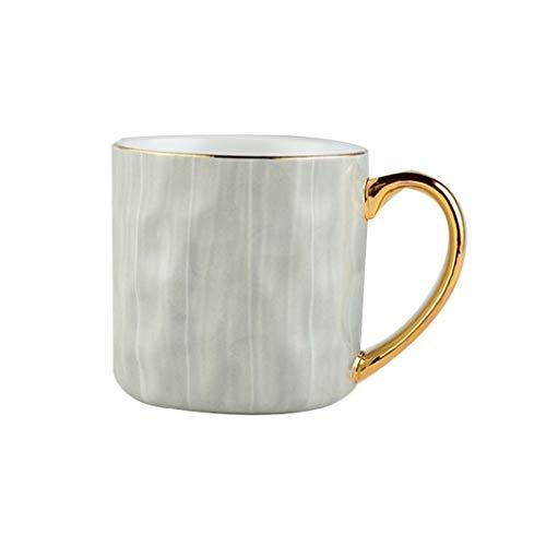 Tazas Lujo luz resplandeciente oro tazas de cerámica creativa europea taza de café de la oficina Copa tendencia Pareja leche Copa del hogar taza de agua personalizada Tazas de Café ( Color : B )
