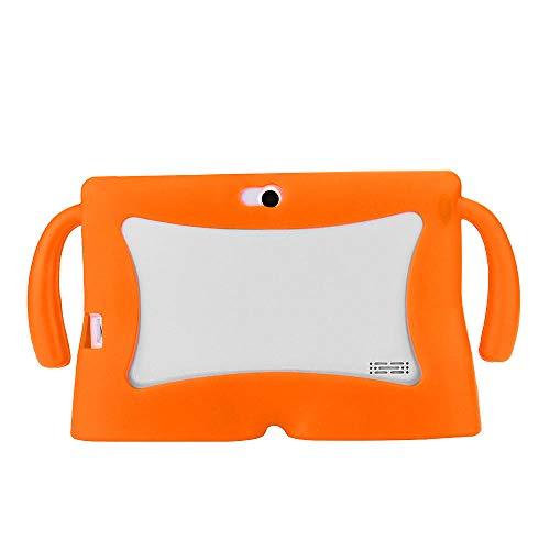 Universal Tablet Case 7Inch Kids Funda Protectora de Gel de Silicona para 7 Pulgadas Android Tablet Q88 para Yuntab 7 Pulgadas A23 A3-Naranja