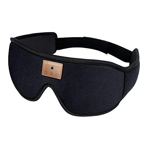 MKXF Máscara de ojos Bluetooth, máscara de ojos Bluetooth para dormir, artefacto especial de protección ocular para ayuda al sueño, gafas de sombreado de música Bluetooth (color negro)