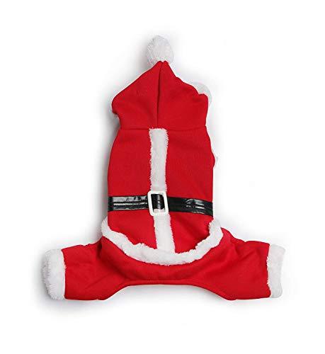 Yonfan - Disfraz de Papá Noel con Capucha para Perros, Gatos, Mascotas, Navidad, Halloween, cumpleaños