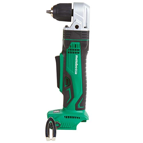 Metabo HPT Right Angle Drill, 18V Cordless, Tool Only - No Battery, 3/8-Inch Keyless Chuck, LED Light, Side Handle (DN18DSLQ4)