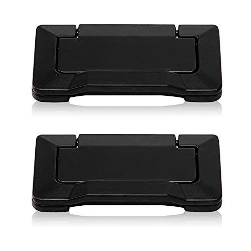 Geoyien Tirador de puerta invisible, tiradores para armario empotrado tiradores de puerta de armario con tornillos tiradores de cajón para accesorios de armario horizontal, (2 piezas, negro)