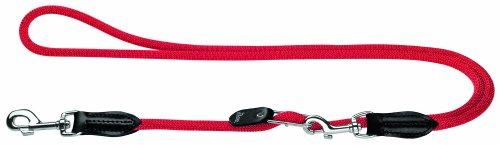 HUNTER Freestyle Vario-Leine, verstellbare Führleine für Hunde, robust, wetterfest, 1,0/260 cm, rot