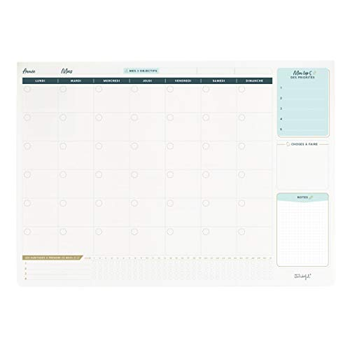 Organizador mensual de escritorio