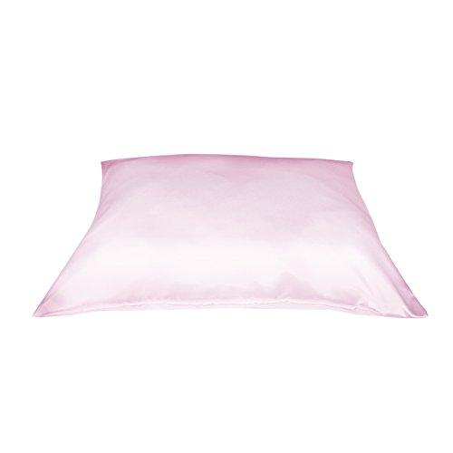 Betty Dain Satin Pillowcase with Zipper, Standard, Pink