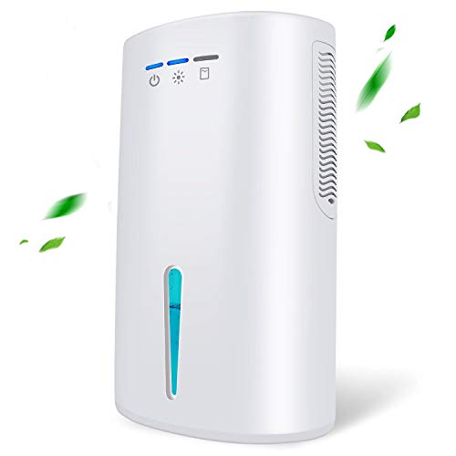 Gocheer Upgraded Dehumidifier for Home,Up to 480 Sq.ft Dehumidifiers for High Humidity in Basements Bedroom Closet Bathroom Kitchen Small Quiet Portable Air Dehumidifiers with 2000ml(64oz) Water Tank