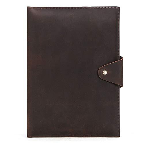 NBWS Case voor iPhone MacBook 12 inch, Retro Leather Premium Leather Schokbestendig Lichte zaken met geheugenplaats zak bieden krasbestendige beschermhoes Multifunctionele computertas - Zwart