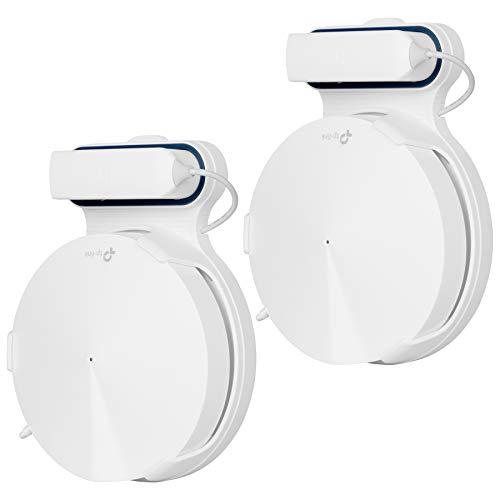 Preisvergleich Produktbild LUOGAO Deco M9 Wandhalterung mit WiFi-Mesh-System für den gesamten Heimgebrauch,  2 Pack und Leuchtfeuerhalterung mit Kabelmanagement,  Silikongummi,  ohne Schrauben und einfach zu bewegen