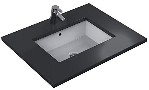 Ideal Standard Waschbecken Unterbau Strada K0779MA, weiß Ideal Plus, B: 590, T: 432, ohne Bohrung für Armatur, mit Überlauf