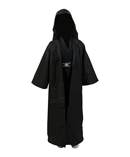 Disfraz Cosplay De Anakin Skywalker Tunica con Capucha Y Tunica Version Negra, 150cm