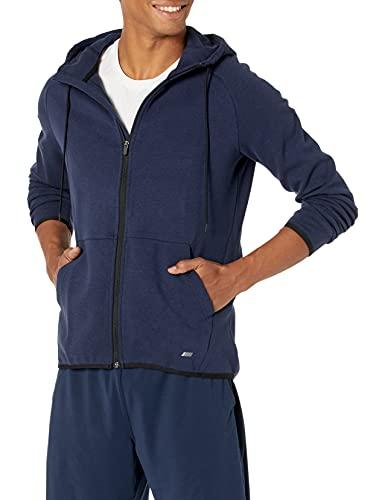 Amazon Essentials Men's Tech Fleece Full-Zip Hooded Active Sweatshirt, Navy, Large