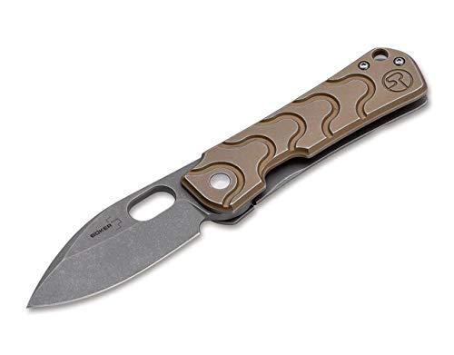 Böker Plus Couteau de Poche Gust Adulte-Mixte, Or, 16,7cm