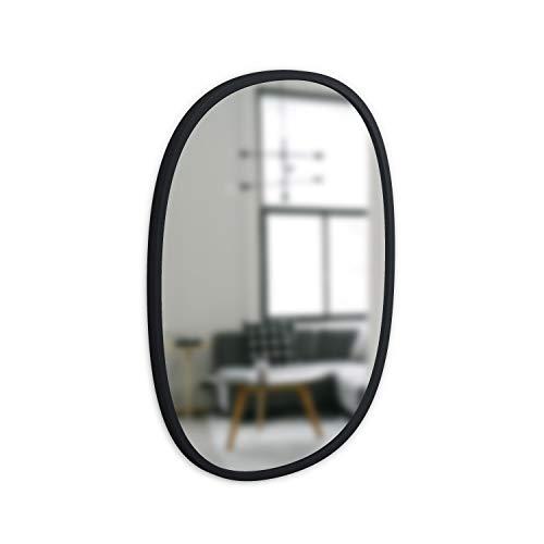 Umbra Hub Oval Wall Mirror, 18 x 24-Inch, Black