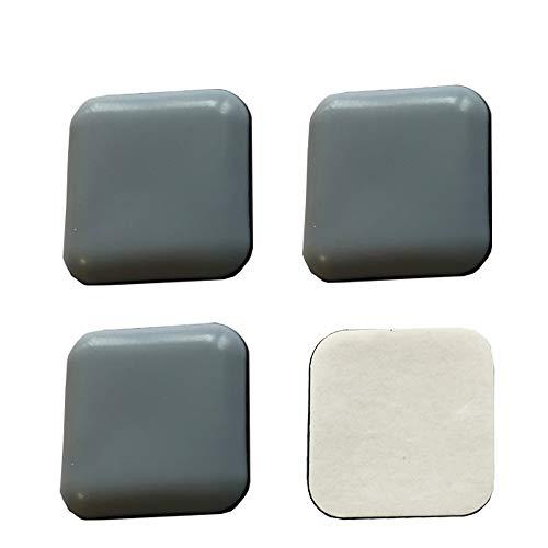 4 Stück Teflongleiter, Möbelgleiter, Bodenschutz, grau, 50 x 50 mm, selbstklebend, Stuhlgleiter.