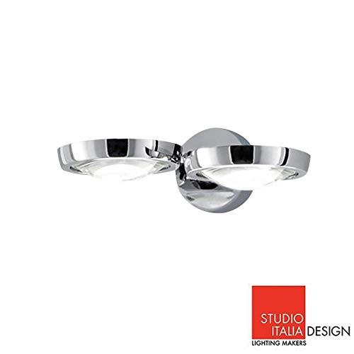 Studio Italia Design Nautilus Applique LED Lampe murale Chromé