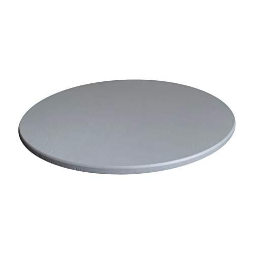 FLAMEER Tovaglia Impermeabile Antiscivolo tovaglia tovaglia per Diametro 60cm (23.6 Pollici) Tavoli Rotondi - Grigio