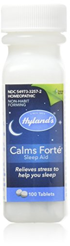 Hyland's Calms Forte' Sleep Aid Tablets, Natural Relief of Nervous Tension and Occasional Sleeplessness, 100 Tablets, Pack of 1